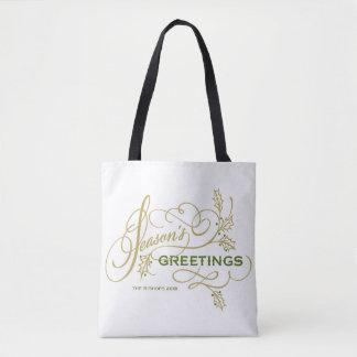 Die eleganten Grüße der Jahreszeit blühen Tasche