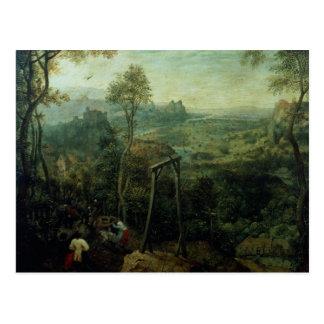 Die Elster auf den Galgenn 1568 Postkarten