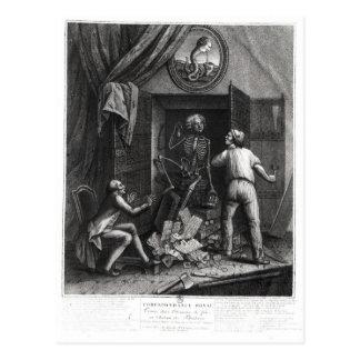 Die Entdeckung der königlichen Korrespondenz Postkarte