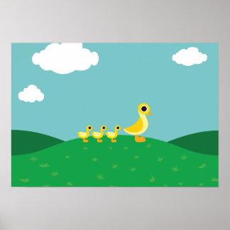Die Enten-Familie Poster