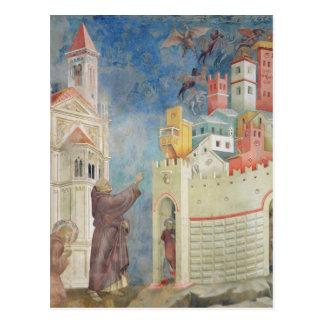 Die Entfernung der Teufel von Arezzo, 1297-99 Postkarte