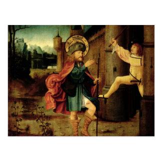 Die Entfernung des Heiligen Roch von Rom Postkarte