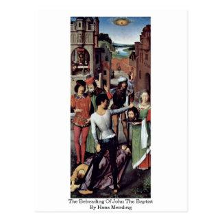 Die Enthauptung von Johannes der Täufer durch Hans Postkarte