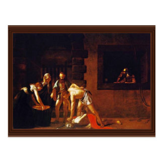 Die Enthauptung von Johannes der Täufer für die Postkarte