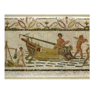 Die Entleerung eines Schiffs Postkarte