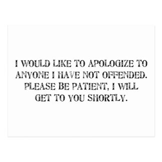 die Entschuldigung Postkarten