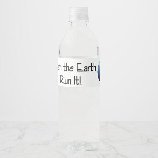 Die Erde des SPITZENläufers Wasserflaschenetikett