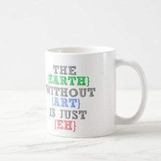 Die Erde ohne Kunst ist gerade wie Kaffeetasse