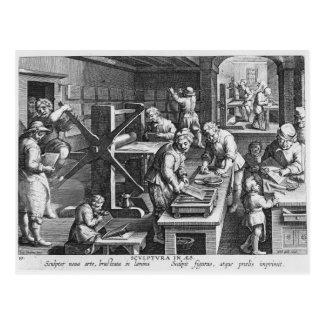 Die Erfindung des kupfernen Stiches Postkarte