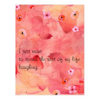 Die Erholung meiner Leben-lachenden Postkarte
