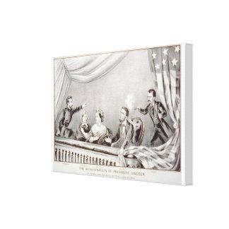 Die Ermordung von Präsidenten Lincoln Lithograph Leinwanddruck