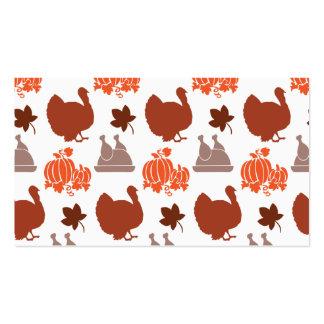 Die Erntedank-Abendessen-Türkei-Kürbis-Fall-Ernte Visitenkarten