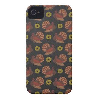Die Erntedank-Herbst-Türkei-Tafel-Muster iPhone 4 Cover