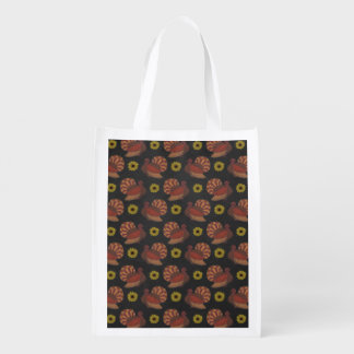 Die Erntedank-Herbst-Türkei-Tafel-Muster Wiederverwendbare Einkaufstasche