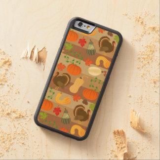 Die Erntedank-Türkei-Kürbis-Herbst-Ernte-Muster Bumper iPhone 6 Hülle Ahorn