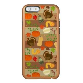 Die Erntedank-Türkei-Kürbis-Herbst-Ernte-Muster Incipio Feather® Shine iPhone 6 Hülle