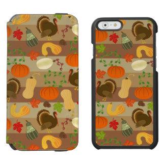 Die Erntedank-Türkei-Kürbis-Herbst-Ernte-Muster Incipio Watson™ iPhone 6 Geldbörsen Hülle