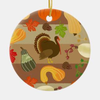 Die Erntedank-Türkei-Kürbis-Herbst-Ernte-Muster Keramik Ornament