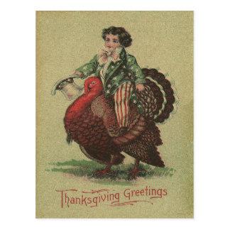 Die Erntedank-Türkei-Reiten Postkarte