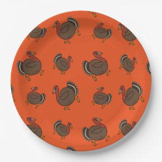 Die Erntedank-Türkeitrot-orange PapierTeller