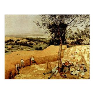 Die Erntemaschinen Pieter Bruegels (1565) Postkarten