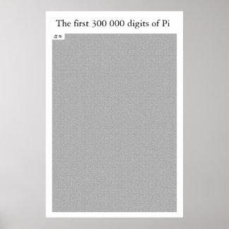 Die ersten 300 000 Stellen von PU Poster