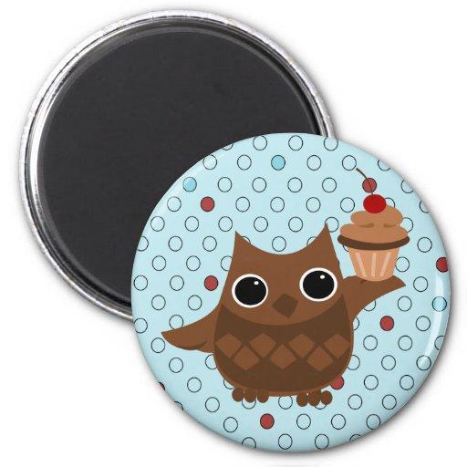Die Eule und der kleine Kuchen Magnete