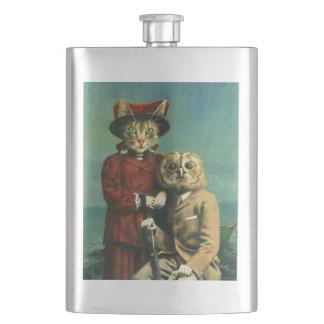 Die Eule und die Pussy-Katzen-Prämien-Flasche Flachmann