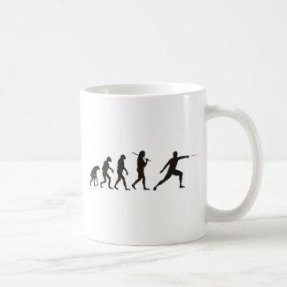 Die Evolution des Fechtens Kaffeetasse