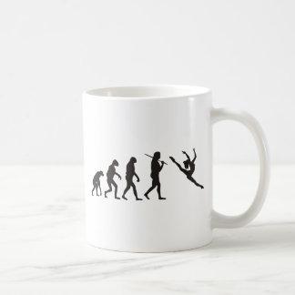 Die Evolution des Tänzers Kaffeetasse