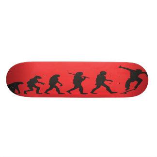 die Evolution im Rot Bedruckte Skateboarddecks