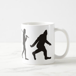 Die Evolution von Bigfoot Kaffeetasse