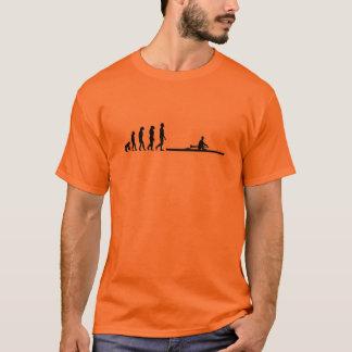 die Evolution zum Rudern T-Shirt