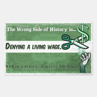 Die falsche Seite der Geschichte #18 Rechteckiger Aufkleber