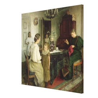 Die Familie des Künstlers 1895 Gespannte Galeriedrucke