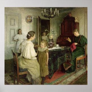 Die Familie des Künstlers, 1895 Poster