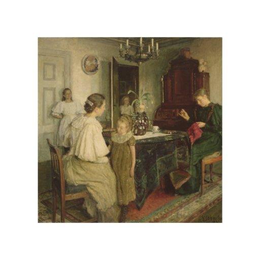 Die Familie des Künstlers, 1895 Holzleinwände