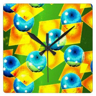Die Farben Brasiliens Quadratische Wanduhr
