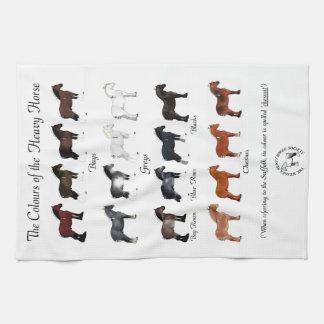 Die Farben des schweren Pferds Handtuch