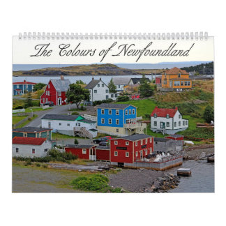 Die Farben von Neufundland Wandkalender