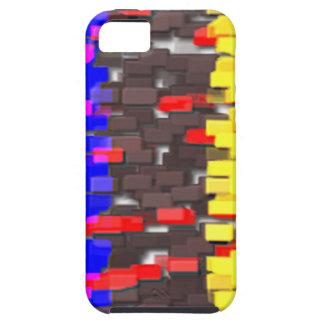 Die farbigen Gebäude-Blöcke iPhone 5 Schutzhülle