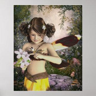 Die Fee und der Libellen-Plakat-Druck Poster