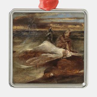 Die Fee und die Seeschlange Silbernes Ornament