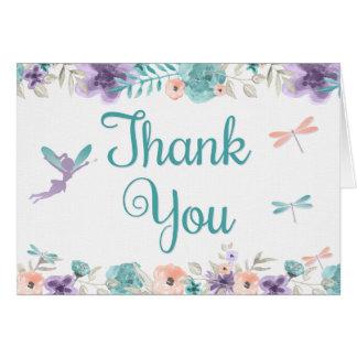 Die feenhafte Blumen Libelle danken Ihnen zu Karte