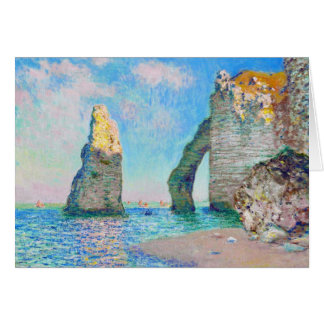 Die Felsen-Nadel und das Porte d'Aval Claude Monet Mitteilungskarte