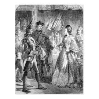 Die Festnahme von Caroline Matilda Postkarte