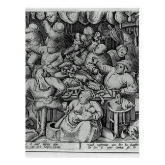 Die fette Küche durch Pieter Bruegel das Älteste Postkarte