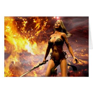 die Feuergöttin Grußkarte