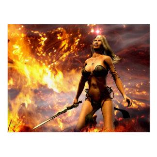 die Feuergöttin Postkarten