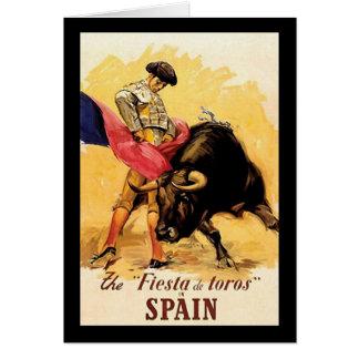 Die Fiesta De Toros In Spanien Karte